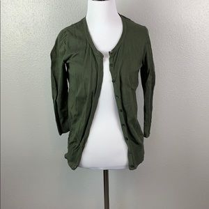 Size m old navy green cardigan